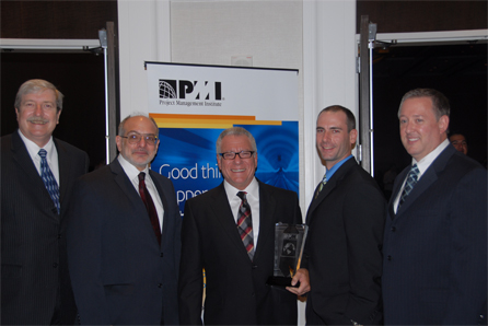 Winning the PMI Best of the Best Training Award!