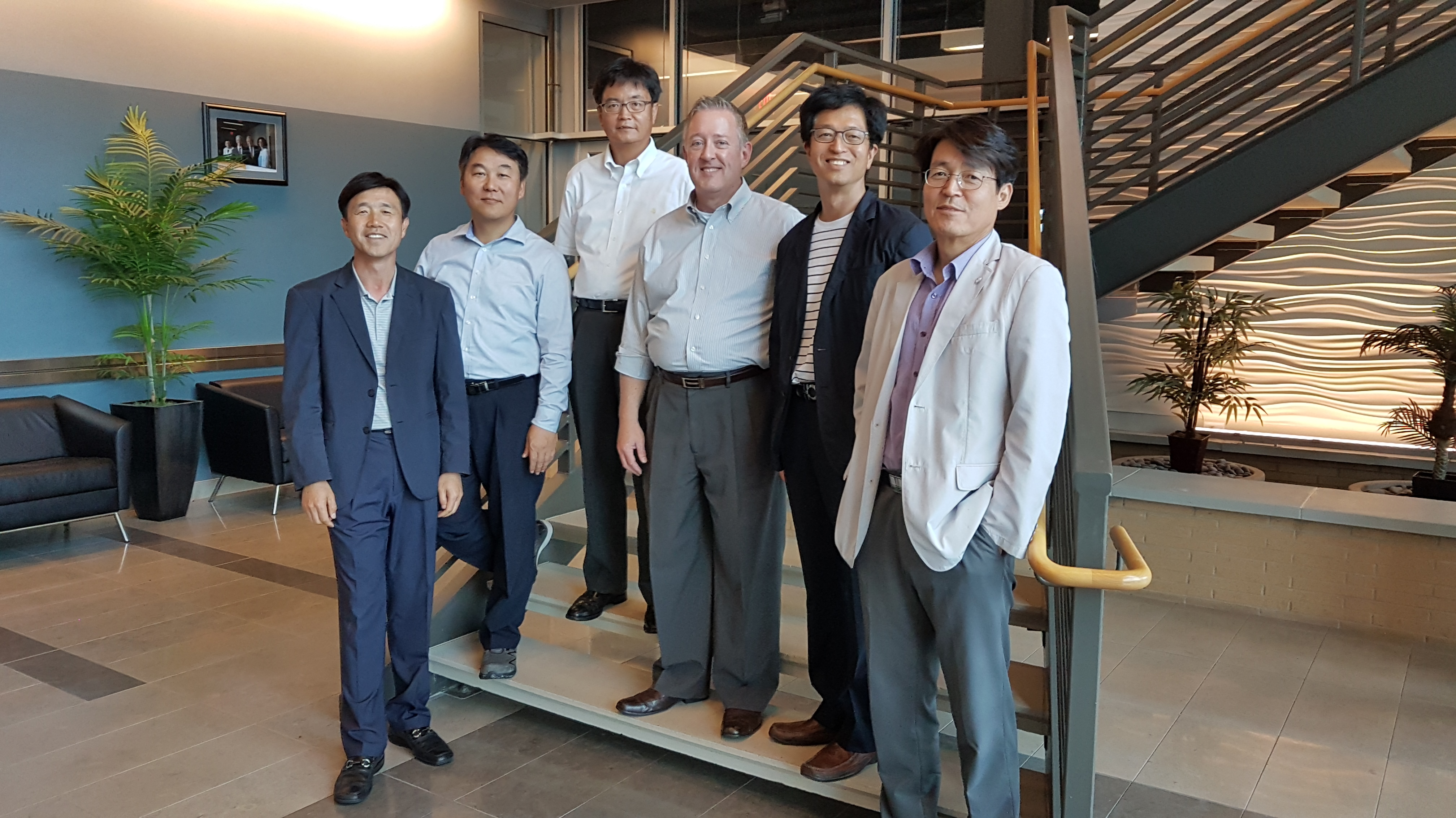 Curt Davis with the team from Korean  Nuclear Power he trained in PM and BA at SUNY Stony Brook